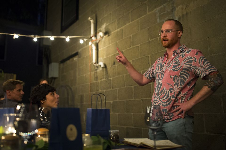 John Maden taught the guests about marijuana pairings.