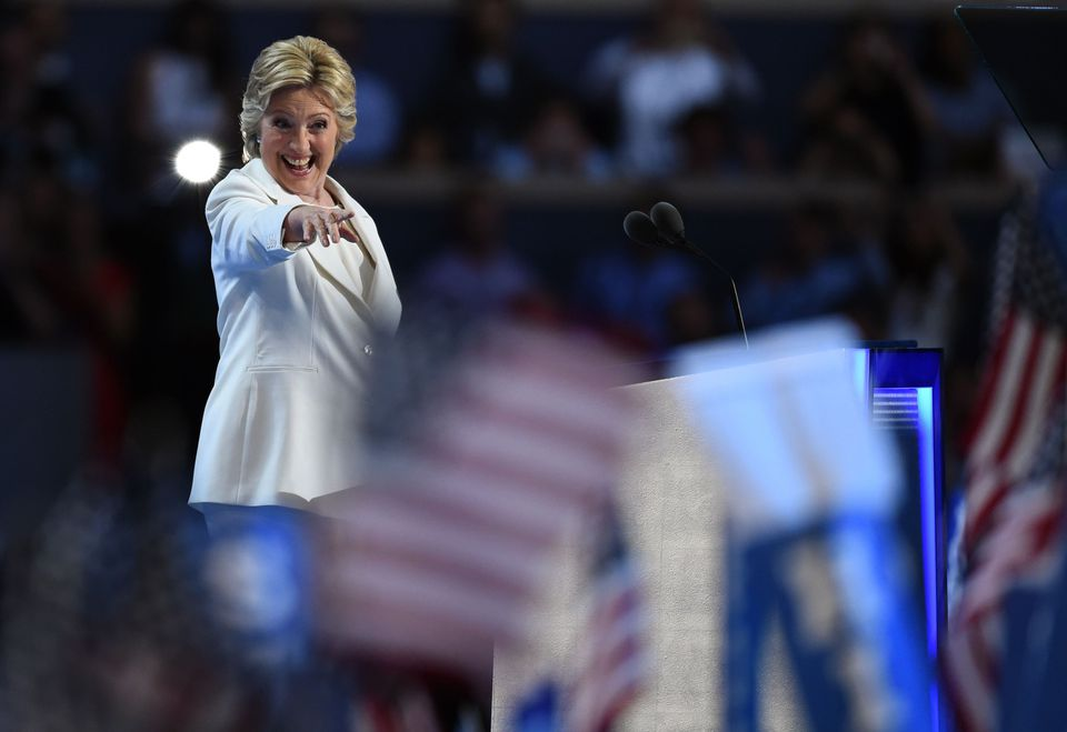 Hillary Clinton wore white the night of her Democratic convention speech.