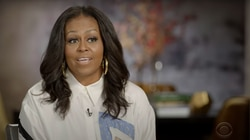 Michelle Obama sat down with Stephen Colbert in an interview that aired Tuesday night.