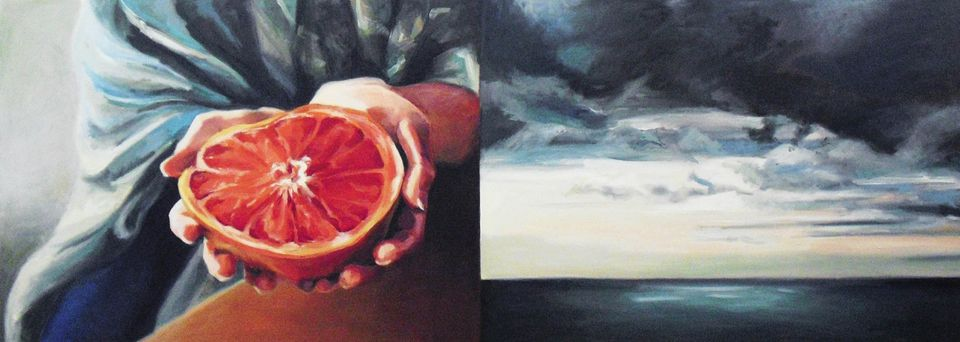 """""""Weight and Sea,"""" by Hannah Perrine Mode, is part of a food-themed show in Concord."""