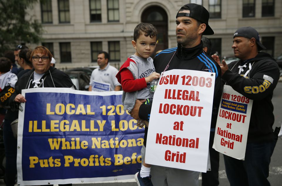 National Grid and the United Steelworkers were back at the bargaining table Wednesday, continuing an intensified effort to hammer out an agreement to end a six-month lockout.