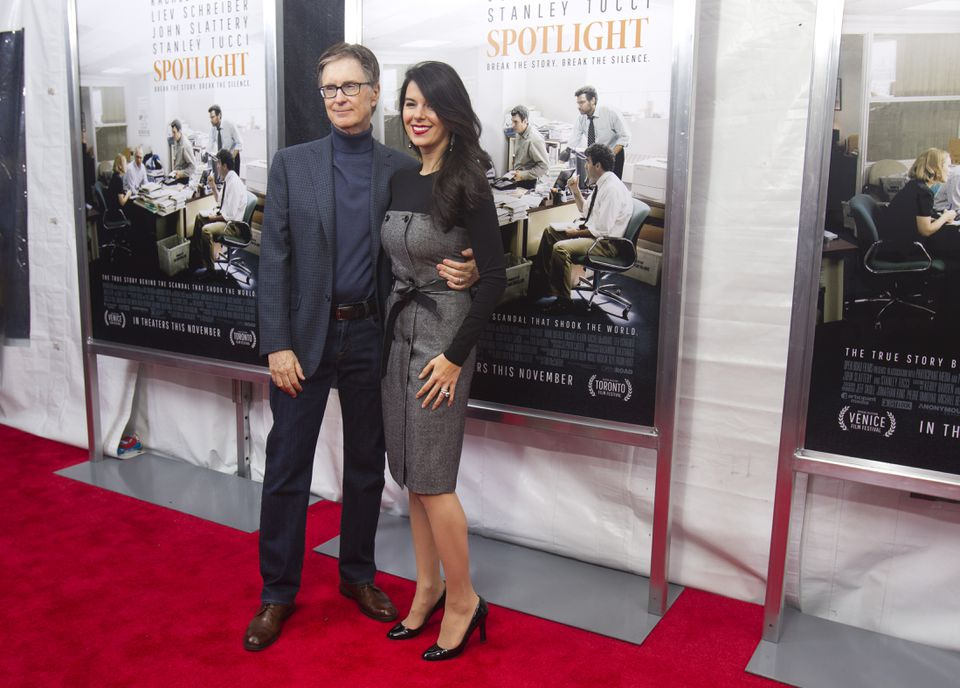 From left: John Henry, Red Sox and Boston Globe owner, with wife Linda Pizzuti Henry, managing director of the Globe.