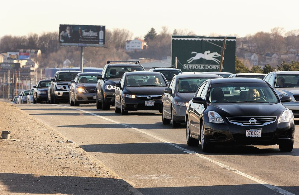 Traffic on Route 1A in East Boston, already an issue, could get worse if a casino is approved for the Suffolk Downs site.