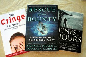 Three Tougias books, including the two newest.
