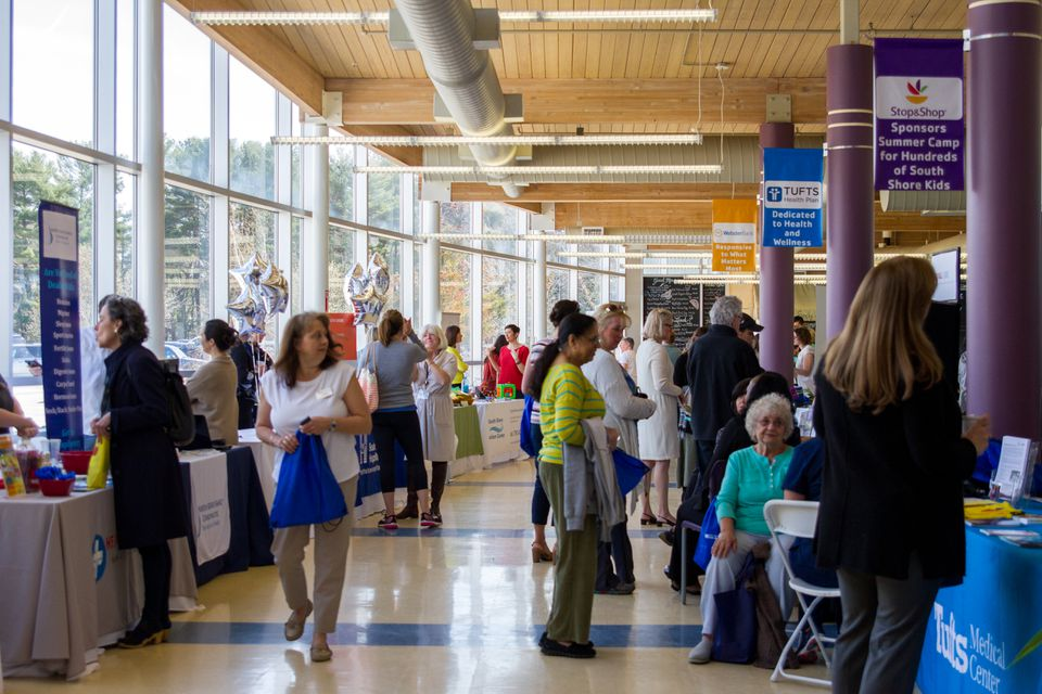 Crowds peruse the booths at last year's South Shore Health & Wellness Fair.