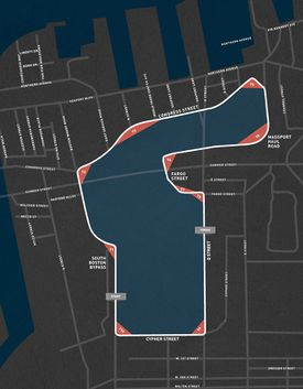 IndyCar posted the race course to a website set up for the event.