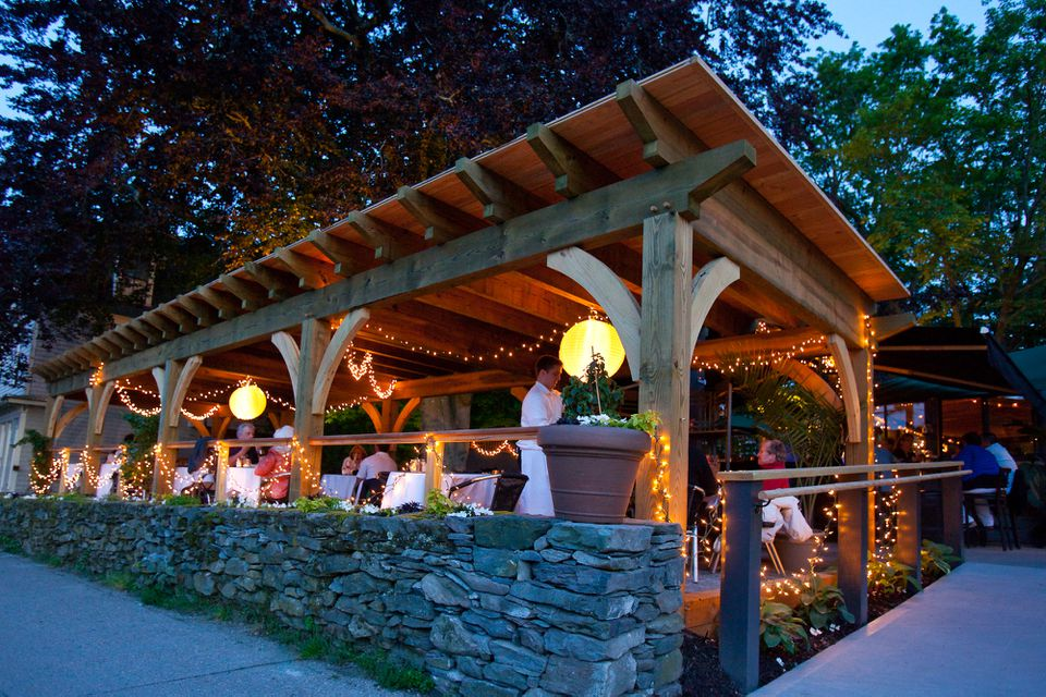 Simpatico serves new American fare and is a popular spot for dining al fresco.