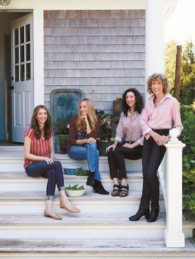 From left: Dana, Tracy, Lori, and Corky Pollan have combined to write a family cookbook.