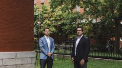 Amylyx co-founders Justin Klee and Joshua Cohen outside of their offices in Cambridge. A two-drug combination invented by Klee and Cohen when they were students at Brown University is one of many potential therapies being tested for amyotrophic lateral sclerosis (ALS), also known as Lou Gehrig's disease.