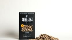 Regrained upcycles spent grains tossed away by breweries, and makes flour that's used to make snack foods. The company partnered with California pasta maker Semolina Artisanal Pasta and introduced Upcycled Strozzapreti with Regrained SuperGrain.