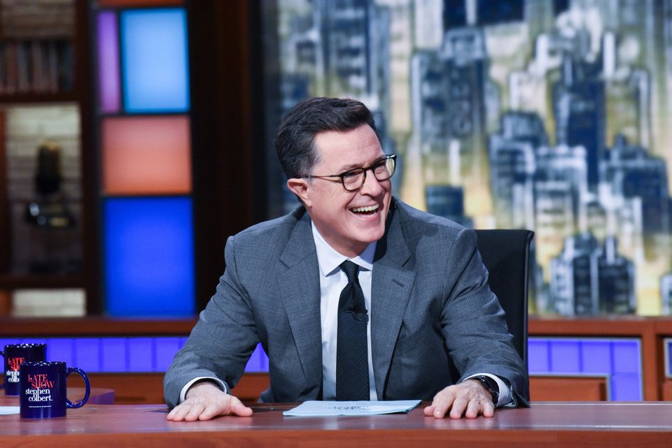 """Stephen Colbert during an episode of """"The Late Show."""""""