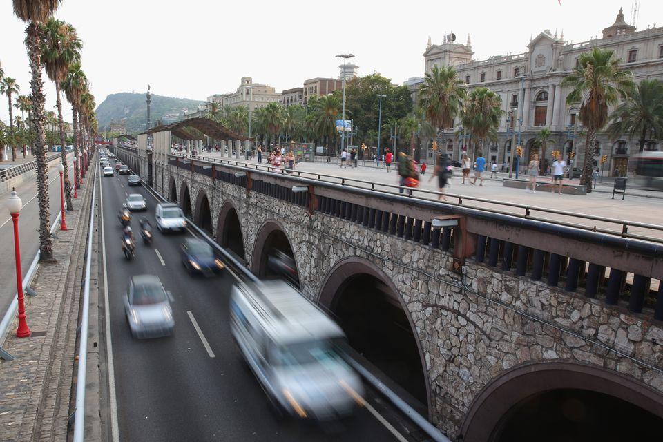 Barcelona's Ronda Litoral road.