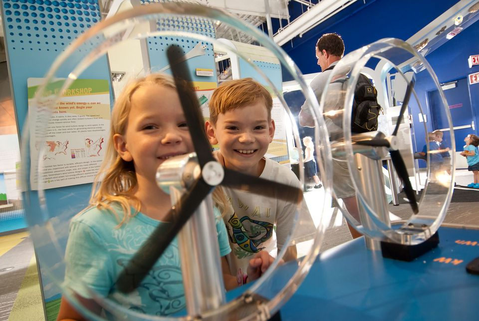 Connecticut Science Center has more than 165 exhibits.