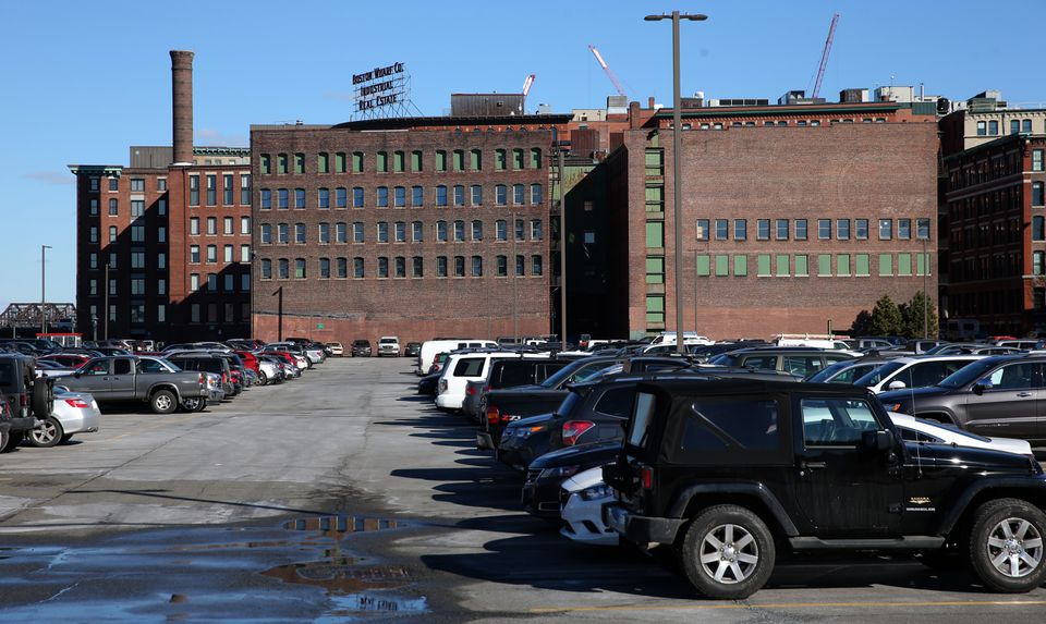 Two brick warehouses on Necco Court will be refurbished as part of General Electric's new headquarters in South Boston.