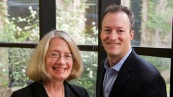 Founder and chief scientific officer of Talaris, Suzanne Ildstad, and chief executive Scott Requadt.
