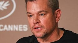 """Matt Damon attends the """"Stillwater"""" press conference during the 74th annual Cannes Film Festival on July 9 in France."""