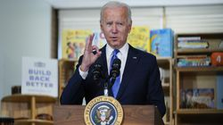 """President Biden delivered remarks to promote his """"Build Back Better"""" agenda at the Capitol Child Development Center on Friday in Hartford, Conn."""