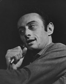 A picture of comedian Lenny Bruce that is included in the papers acquire by Brandeis.
