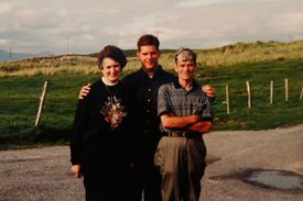 Mary Walsh and John Walsh, immigrants from Ireland in the 1950s, visited their homeland with their son Martin. She was a homemaker and he was a laborer.