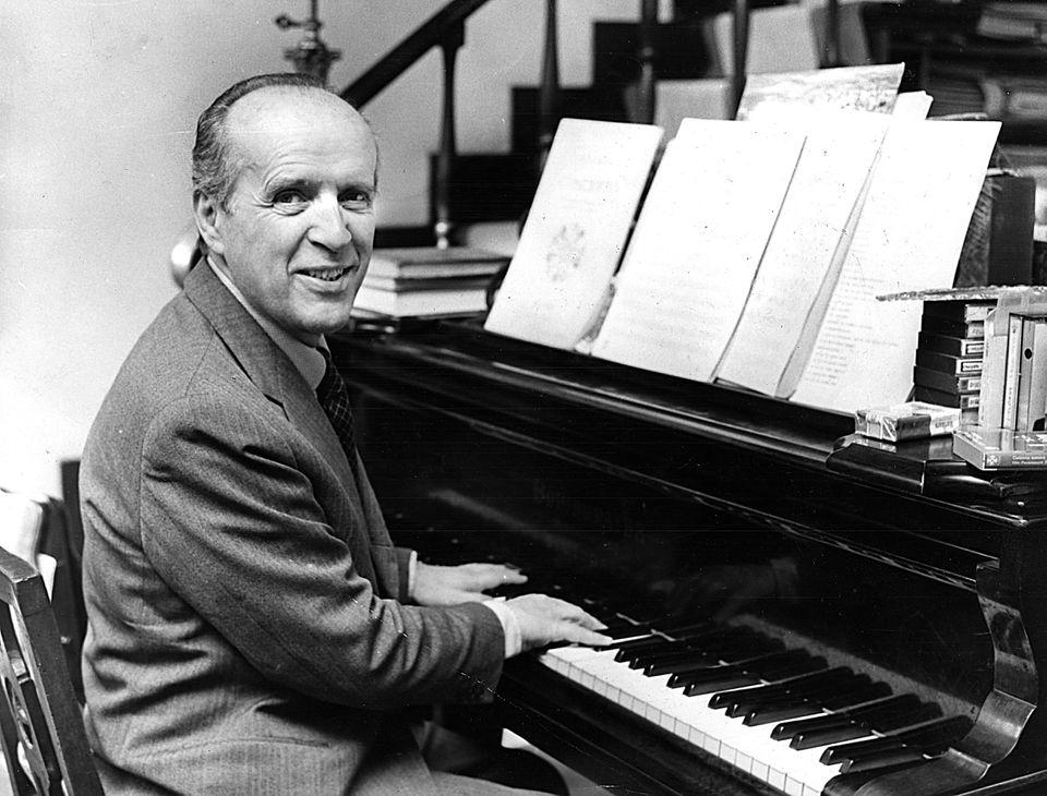 Composer Nino Rota, circa 1972.