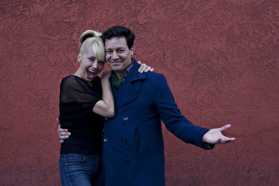 """Sirena Irwin and Bill Mendieta star as Lucy and Ricky Ricardo in the Broadway In Boston production of """"I Love Lucy Live on Stage."""""""