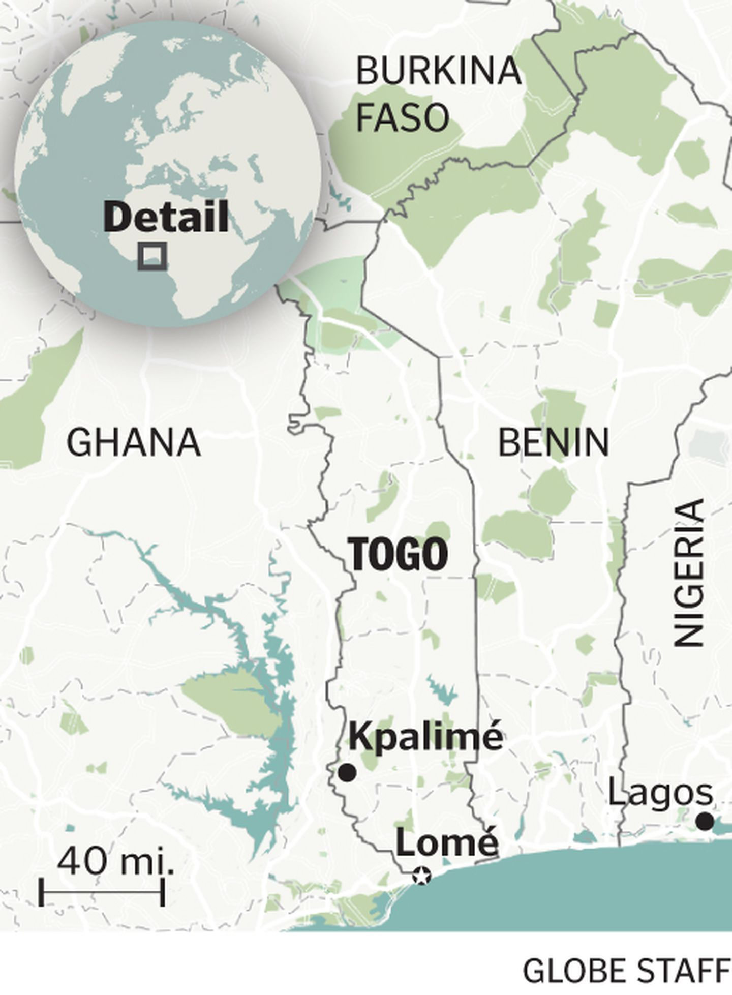 Why go to Togo? So many reasons, it turns out - The Boston Globe Unique World Map Showing Potion on