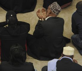 The Islamic Society of Boston Cultural Center in Roxbury held Friday prayer, with clergy of other faiths present.