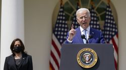President Biden, accompanied by Vice President Kamala Harris, spoke about gun violence prevention in the Rose Garden at the White House on Thursday.