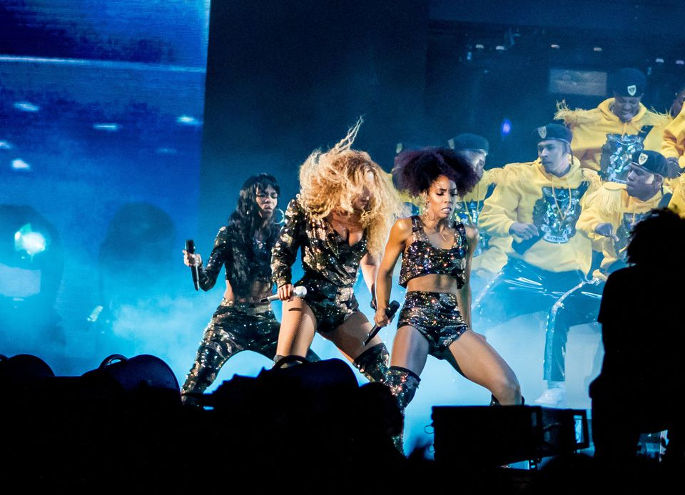 Beyoncé performed with the original members of Destiny's Child at Coachella.