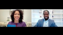 """Amber Payne, co-editor in chief of The Emancipator, spoke with Ibram X. Kendi, founding director of the Boston University Center for Antiracist Research, during a Globe Summit panel entitled """"Fireside Chat: Building an Anti-Racist Society."""""""