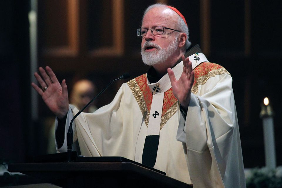Cardinal O'Malley has declared he will not allow anyone to speak on church property who advocates beliefs in conflict with church doctrine.