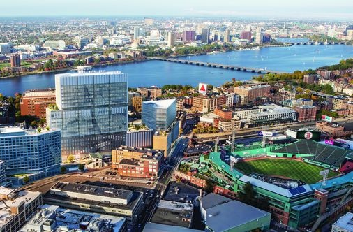 Approaching Boston from the west will never be the same: Long-planned Fenway Center's about to rise