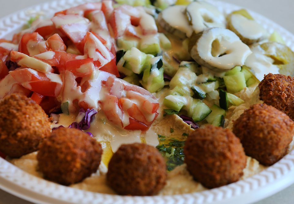 A falafel salad plate from Rami's.