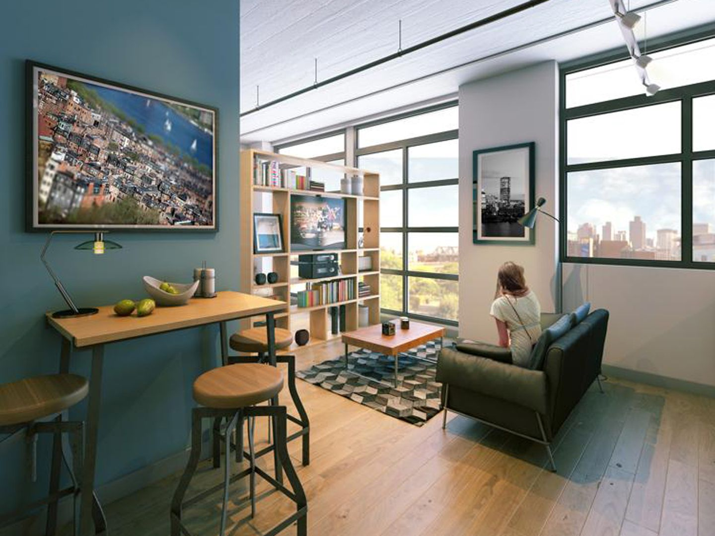 Avalon North Point Lofts Offers Several Compact Options Including This 421 Square Foot