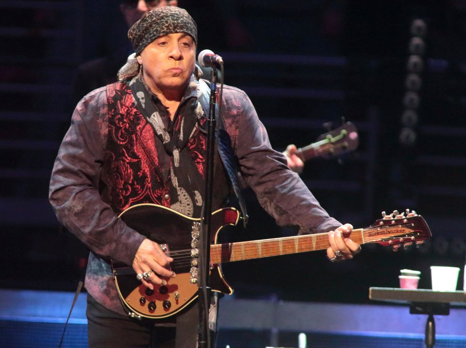 "Steven Van Zandt performed in concert with Bruce Springsteen and the E Street Band during their ""The River Tour 2016."""