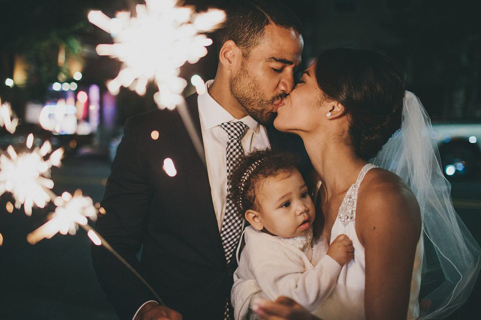 """The evening wrapped up with a """"sparkler farewell."""""""