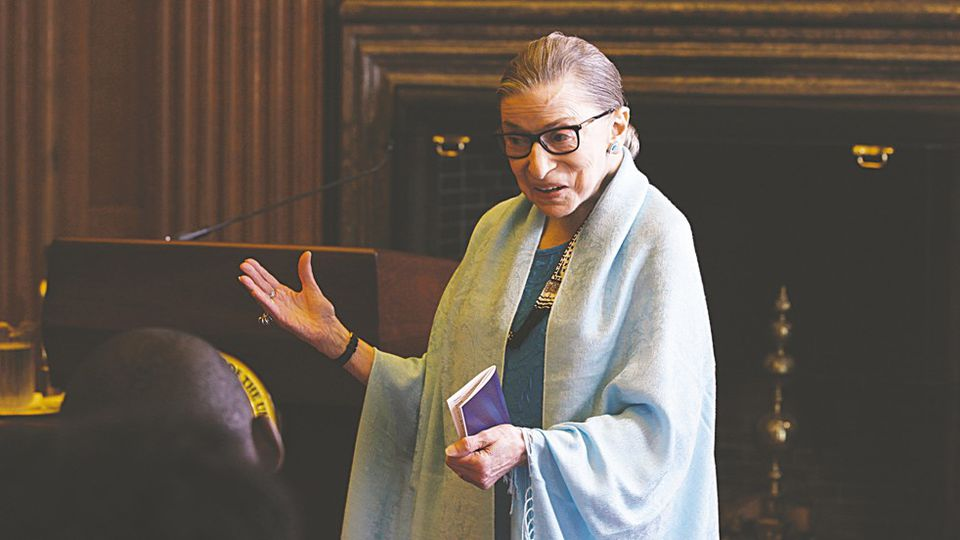 """Supreme Court Justice Ruth Bader Ginsburg in a still image from the documentary """"RBG."""""""