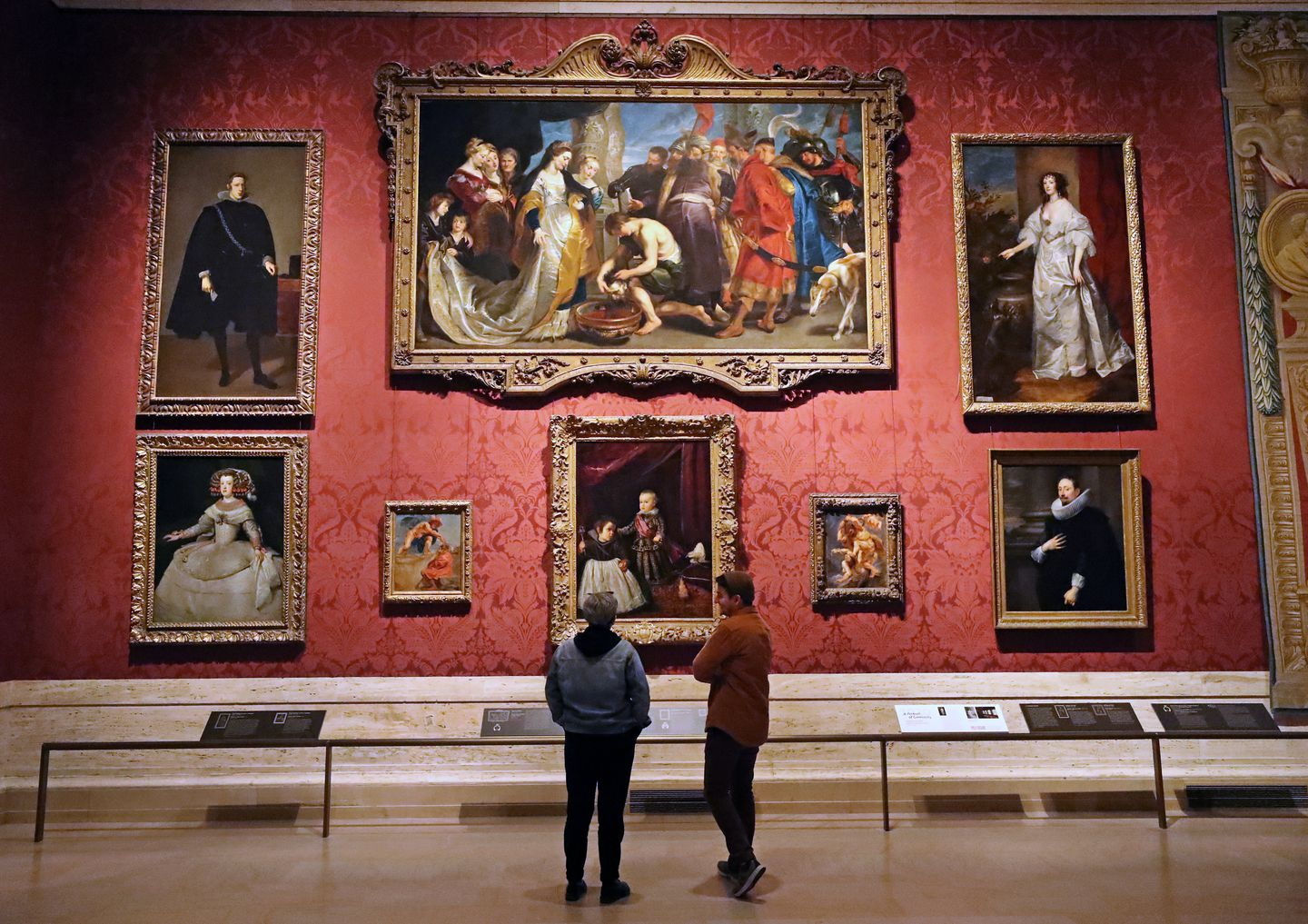 Visitors walked through a gallery at the Museum of Fine Arts in Boston on Thursday.