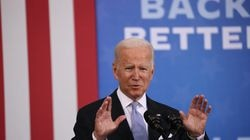 President Biden spoke at an event at the Electric City Trolley Museum on Wednesday in Scranton, Pa.