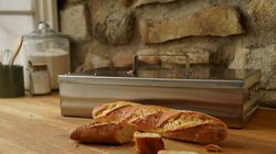 The Baguette Baking Box, which bakes two baguettes, created by metalsmith Dean Anderson.
