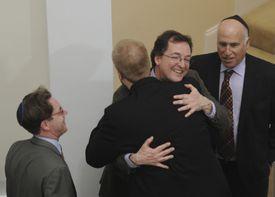 From left, Rabbi Jeremy Morrison, Imam William Suhaib Webb, the Rev. Burns Stanfield, and Rabbi Ronne Friedman at the Roxbury Islamic center.