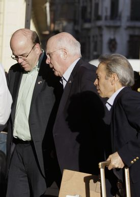 Patrick Leahy (center) and James P. McGovern (left) in Havana on Monday. They left the country on Wednesday.