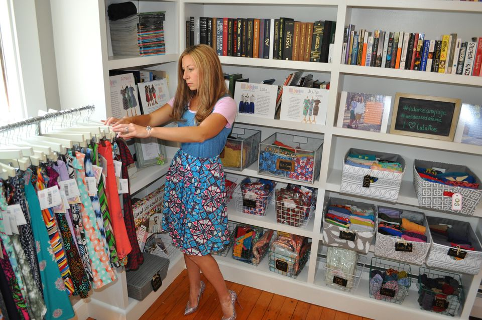 Amy Lage has an entire room in her house dedicated to selling LuLaRoe clothing.