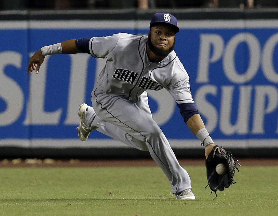 Manuel Margot hit .243 in 37 at-bats for the Padres last season.