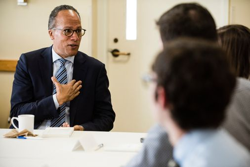 Nbc Anchor Lester Holt Tells Forum At Tufts University