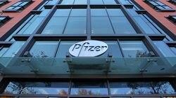 The Pfizer building in Cambridge.