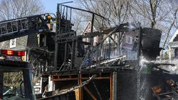Fire crews from Somerville, Cambridge, and Malden battled a four-alarm fire in Somerville, near Davis Square.