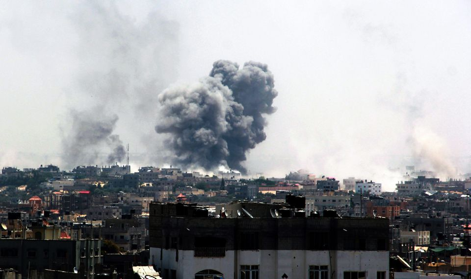 Smoke rose after an Israeli airstrike in August during the summer's conflict with Hamas militants in the Gaza Strip.