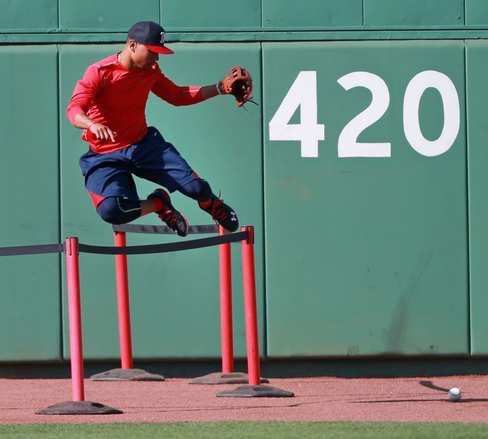 Mookie Betts advanced by leaps and bounds in 2014, going from Double A to the majors.