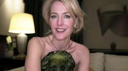 Gillian Anderson, seen in a screen grab from a Golden Globes virtual press event last month.